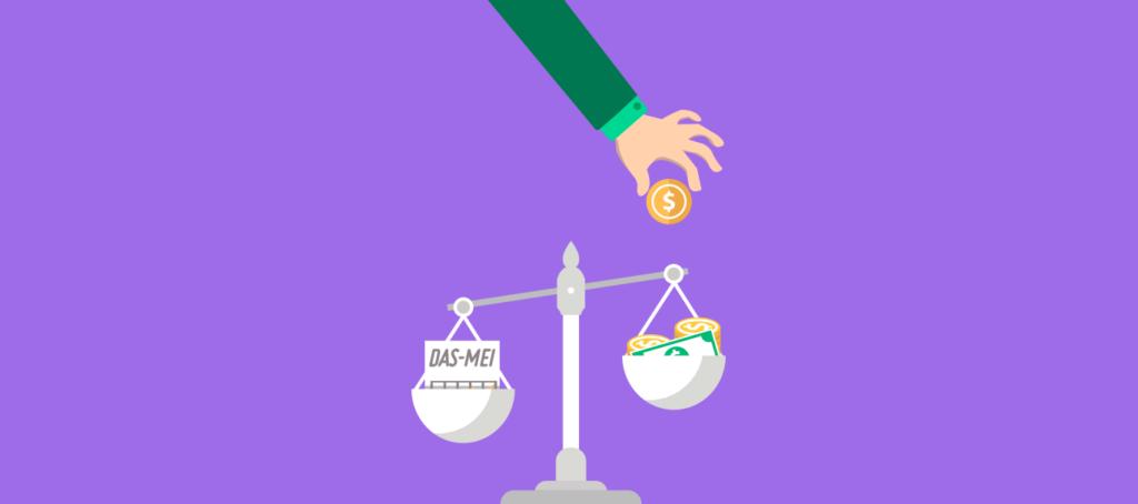 Micro empreendedor pagando o novo Valor DAS MEI em vigor